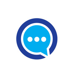 circle messenger communication logo vector image