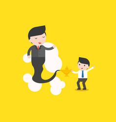 Cute businessman and giant businessman from vector