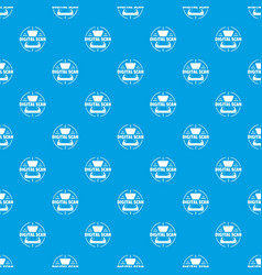 digital scan pattern seamless blue vector image