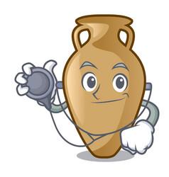 Doctor amphora character cartoon style vector