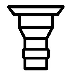 Drain gutter icon outline style vector