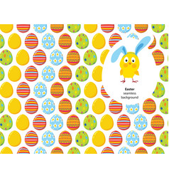 easter decorated eggs seamless pattern vector image