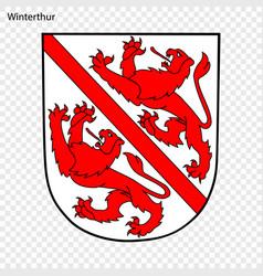 Emblem of winterthur vector