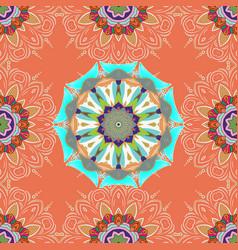 Ethnic texture colored mandala pattern arabic vector
