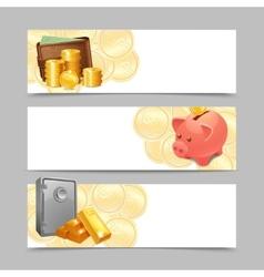 Financial Banner Set vector image