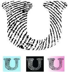 Fingerprint Alphabet Letter U vector