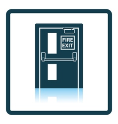 Fire exit door icon vector image