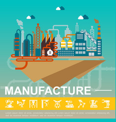 flat industrial factory template vector image