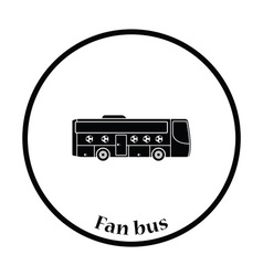Football fan bus icon vector image