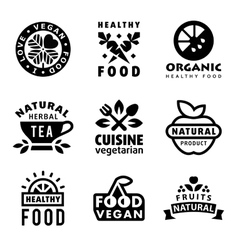 Fresh Organic Labels and Elements vector image