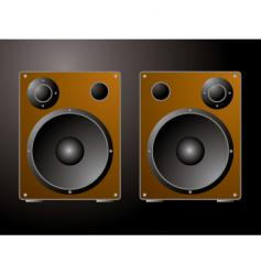 golden speakers vector image