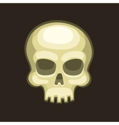 Halloween skull in cartoon style on dark vector