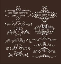 hand drawn ornaments vector image