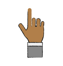 hand icon image vector image
