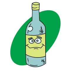 Happy bottle vector