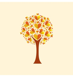 heart-shaped leaves vector image