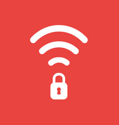 Icon concept of wireless wifi symbol with closed vector