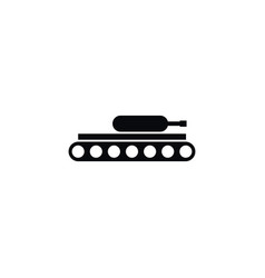 isolated army icon tank element can be vector image