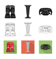 Isolated object of car and rally icon collection vector