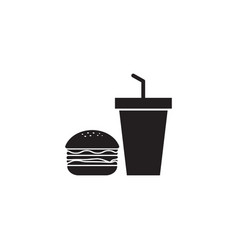 junk food icon design template isolated vector image