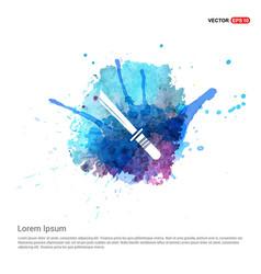 katana sword icon - watercolor background vector image