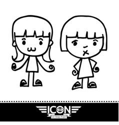 kid cartoon doodle vector image