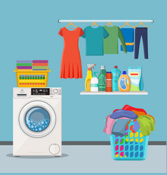 laundry room service vector image
