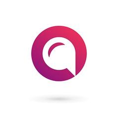 Letter O speech bubble logo icon design template vector