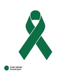 Liver Cancer ribbon vector image
