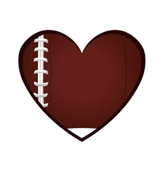 Love american football icon vector