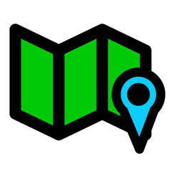Map and map marker symbol navigation concept icon vector