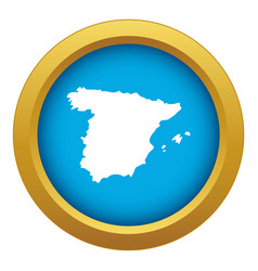 map spain icon blue isolated vector image