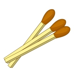 Matches icon cartoon style vector image