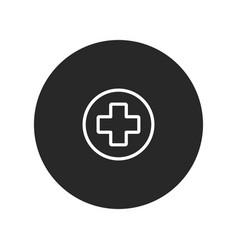 medical cross icon vector image