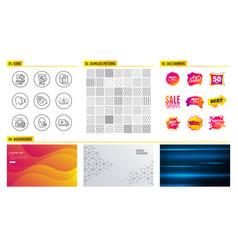 mint bag cream and face biometrics icons problem vector image