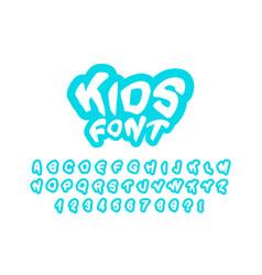 modern childrens font for prints vector image