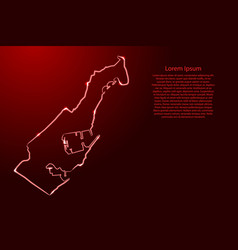 Monaco map from contour classic red color vector