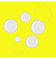 monochrome icon set with bubble blower vector image