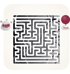 Monster maze vector image vector image