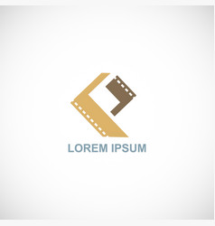 movie slide logo vector image