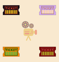 Movie ticket collection in vector