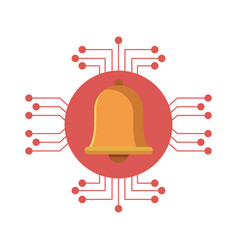Notification bell icon vector