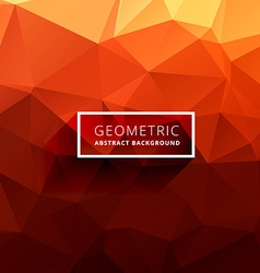 Orange polygonal background vector