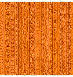 Original tribal doddle ethnic pattern vector