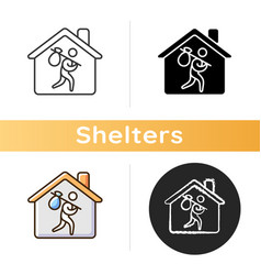 Refugee shelter icon vector