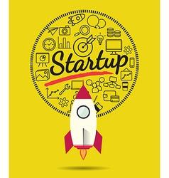 Rocket for business start up concept vector