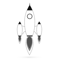 Rocket modern flat icon vector image
