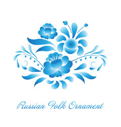 Russian ornaments art gzhel style vector