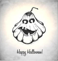 Scary Jack O Lantern vector image