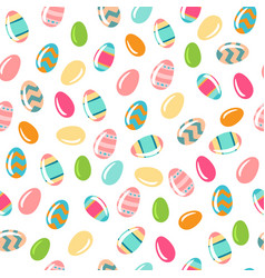 seamless simple pattern with ornamental eggs vector image
